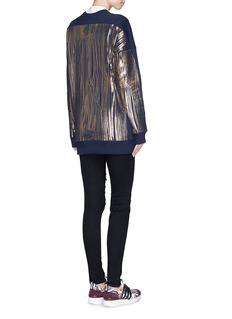 MARKUS LUPFER'Foil woodgrain' Keely sweatshirt
