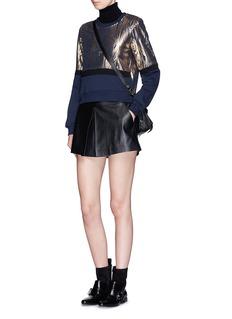 MARKUS LUPFER'Foil woodgrain' Katie fleece sweatshirt