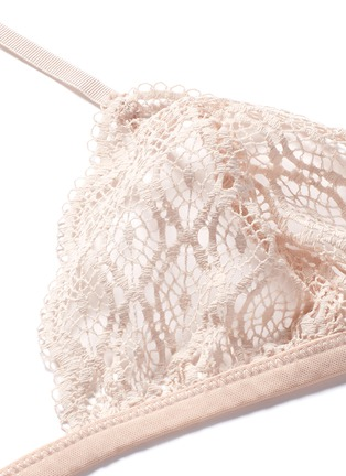 Detail View - Click To Enlarge - Kiki De Montparnasse - 'Paon' crochet lace soft triangle bra