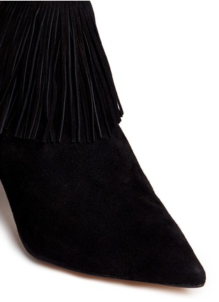 Detail View - Click To Enlarge - Sam Edelman - 'Kandice' fringe suede ankle boots