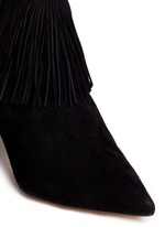 'Kandice' fringe suede ankle boots