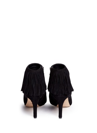 Back View - Click To Enlarge - Sam Edelman - 'Kandice' fringe suede ankle boots