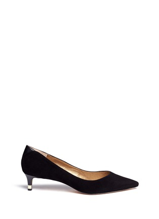 Main View - Click To Enlarge - Sam Edelman - 'Laura' leather trim suede pumps