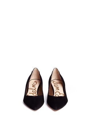 Figure View - Click To Enlarge - Sam Edelman - 'Laura' leather trim suede pumps
