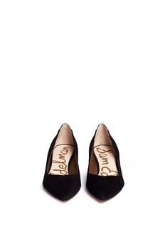 SAM EDELMAN 'Laura' leather trim suede pumps