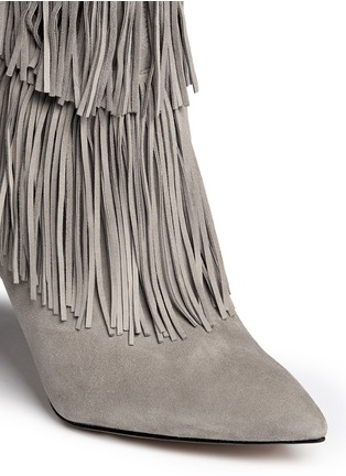 Detail View - Click To Enlarge - Sam Edelman - 'Belinda' fringe suede calf high boots