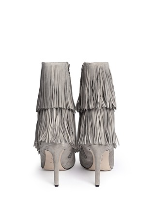 Back View - Click To Enlarge - Sam Edelman - 'Belinda' fringe suede calf high boots
