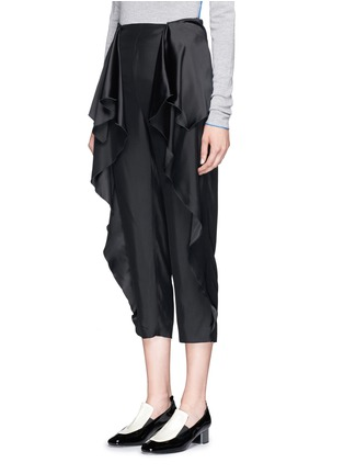 Front View - Click To Enlarge - Stella McCartney - 'Layton' ruffle peplum cropped pants