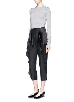 Figure View - Click To Enlarge - Stella McCartney - 'Layton' ruffle peplum cropped pants