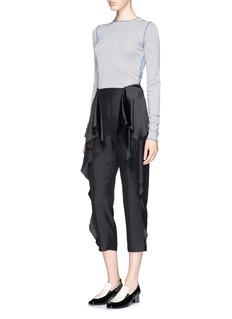 STELLA MCCARTNEY'Layton' ruffle peplum cropped pants