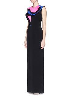 ROKSANDA'Bartlett' ruffle silk blend crepe dress