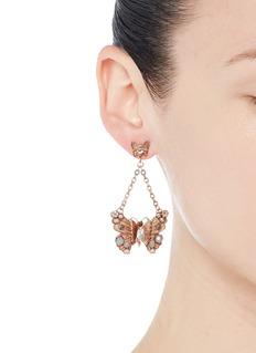 MIRIAM HASKELLButterfly charm chain drop earrings