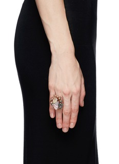 MIRIAM HASKELLMarquise cut crystal and pearl ring