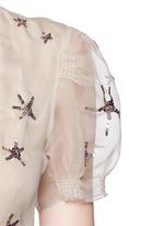 Sequin starfish silk organza gown
