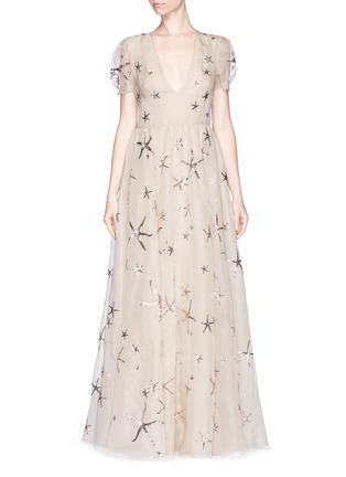 - Valentino - Sequin starfish silk organza gown