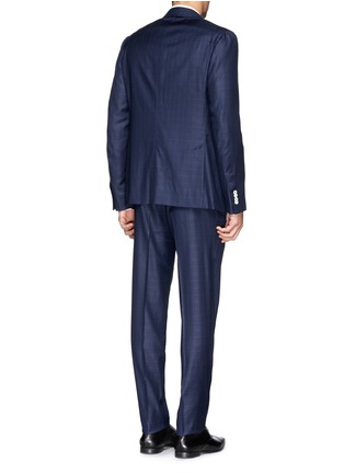 Back View - Click To Enlarge - ISAIA - 'Cortina' check wool suit