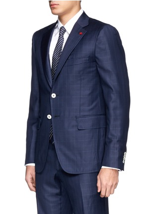 Front View - Click To Enlarge - ISAIA - 'Cortina' check wool suit