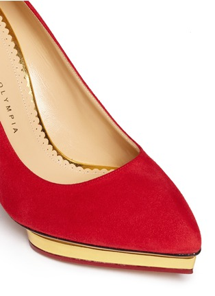Detail View - Click To Enlarge - Charlotte Olympia - 'Debbie' suede platform pumps