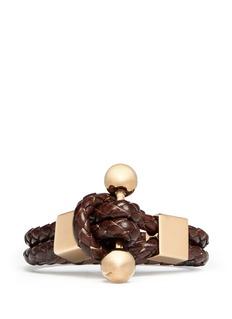 GIVENCHYWhip braid leather bracelet