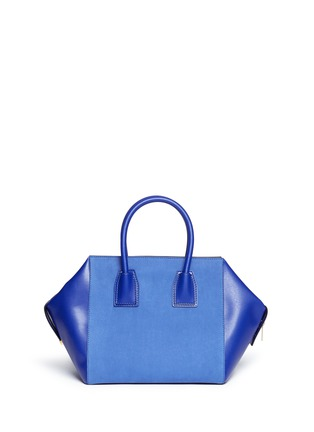 Back View - Click To Enlarge - Stella McCartney - 'Cavendish' small faux suede and leather tote