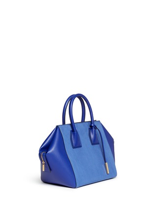Front View - Click To Enlarge - Stella McCartney - 'Cavendish' small faux suede and leather tote