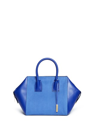 Main View - Click To Enlarge - Stella McCartney - 'Cavendish' small faux suede and leather tote