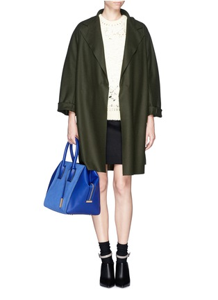 Figure View - Click To Enlarge - Stella McCartney - 'Cavendish' small faux suede and leather tote