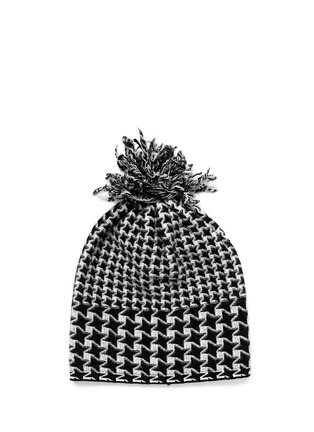 Main View - Click To Enlarge - Stella McCartney - Mix houndstooth star beanie