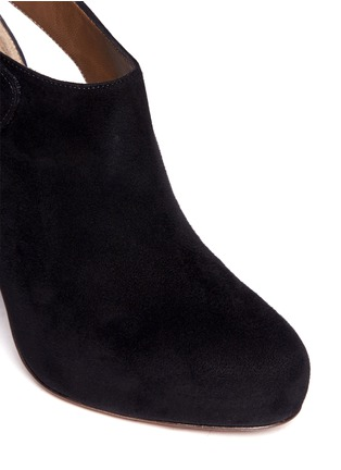 Detail View - Click To Enlarge - Marni - Cutout suede booties
