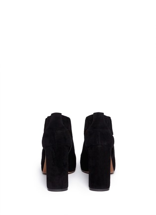 Back View - Click To Enlarge - Marni - Cutout suede booties