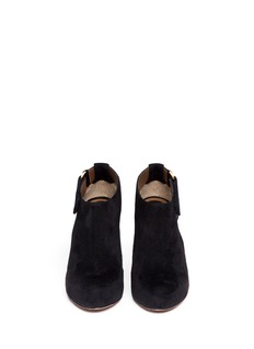 MARNI Cut-out suede booties