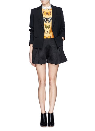 Figure View - Click To Enlarge - Chictopia - Cropped butterfly print shirt