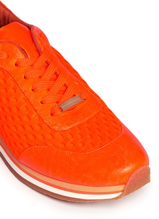 Detail View - Click To Enlarge - Stella McCartney - Fluo mesh sneakers