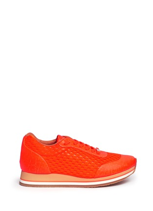 Main View - Click To Enlarge - Stella McCartney - Fluo mesh sneakers