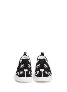 MARC BY MARC JACOBS'Friends Of Mine Rue' cat leather suede slip-ons