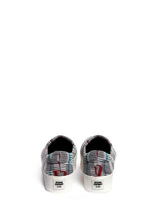 Back View - Click To Enlarge - Opening Ceremony - Graphic jacquard flatform slip-ons
