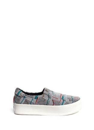 Main View - Click To Enlarge - Opening Ceremony - Graphic jacquard flatform slip-ons