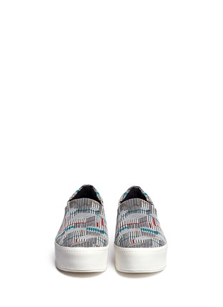 Figure View - Click To Enlarge - Opening Ceremony - Graphic jacquard flatform slip-ons