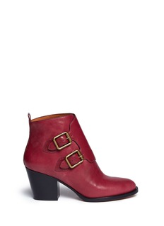 MARC BY MARC JACOBSLeather double monk strap ankle boots