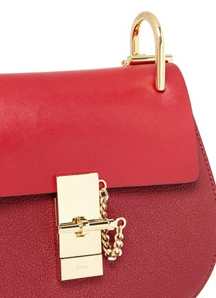 Detail View - Click To Enlarge - Chloé - 'Drew' mini leather shoulder bag