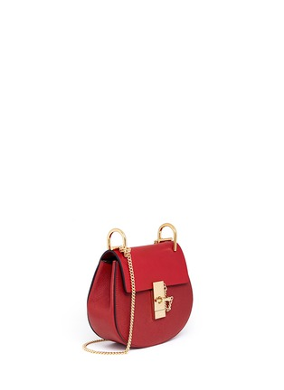 Front View - Click To Enlarge - Chloé - 'Drew' mini leather shoulder bag