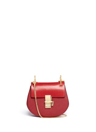 Main View - Click To Enlarge - Chloé - 'Drew' mini leather shoulder bag