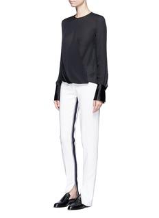 rag & bone'Max' drape wrap front silk blouse