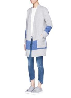 rag & bone'Elgin' colourblock stripe reversible felted blanket coat