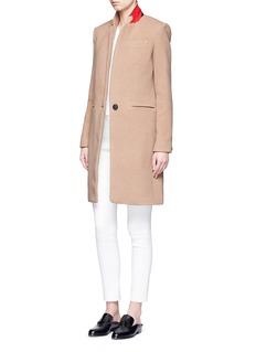 rag & bone'Emmet Crombie' felted wool blend coat