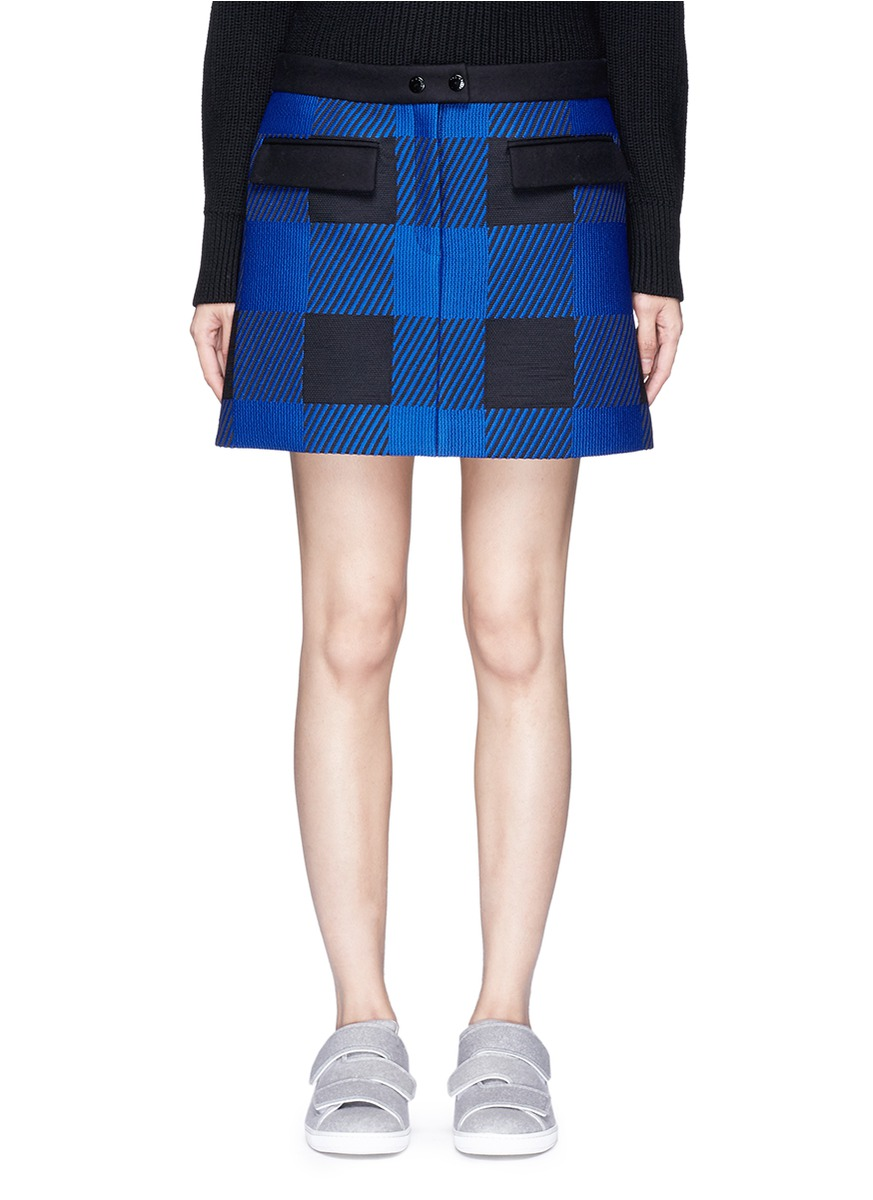 Cybil buffalo check plaid mini skirt by rag & bone