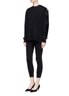 J Brand'Maria' zip cuff skinny jeans