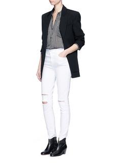 J Brand'Maria' high waist ripped skinny jeans