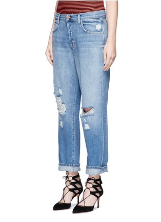Front View - Click To Enlarge - J Brand - 'Ivy' high rise distressed cropped jeans