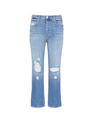 Main View - Click To Enlarge - J Brand - 'Ivy' high rise distressed cropped jeans